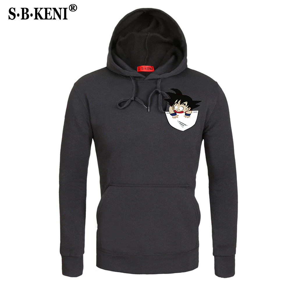 NEU18 Anime Dragon Ball Z Hoodies Men Autumn Winter Men Jacekt Sweatshirt Tracksuits Brand Clothing Hoody Plus Size Sweatshirt 4
