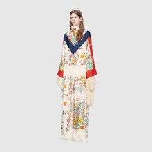 presal белый букет цветов цифровой печати Руководство DIY Заказная ткань Ультрамодная одежда полиэстер ткань