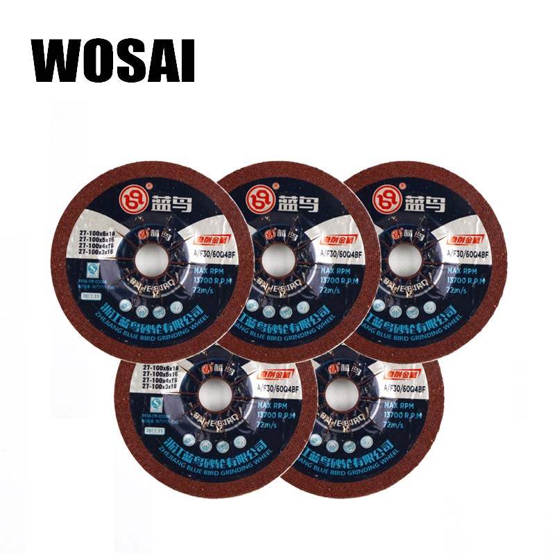 WOSAI 100mm Resin Grinding Wheel Multi-function Metal Saw Blade Cutting Angle Grinder Rotary Tool