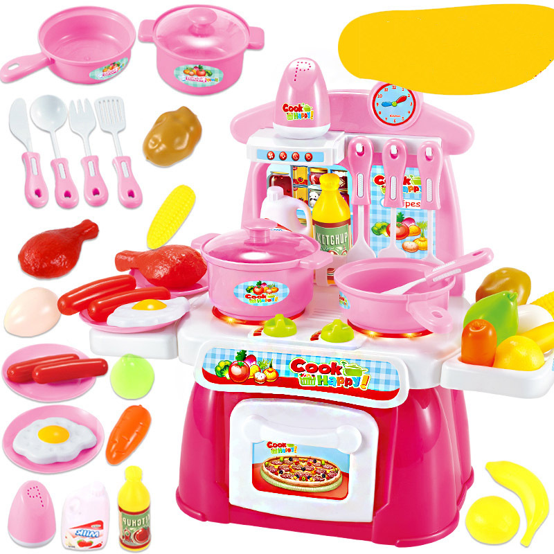 22pcs/Set Kitchen Cooking Toy Children DIY Pretend Kitchen Cooking Food Cookware Role Play Kids Puzzle toy for children Gift ...