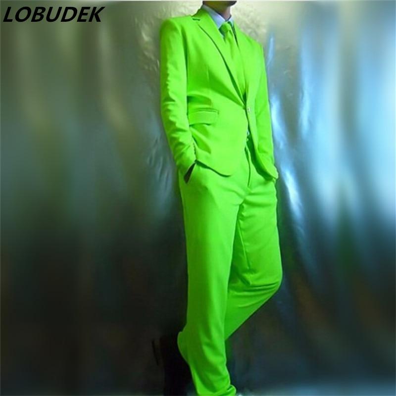 roter, grüner, blauer Anzug (Jacke + Hose) Neon Blazer Set - Herrenbekleidung - Foto 2