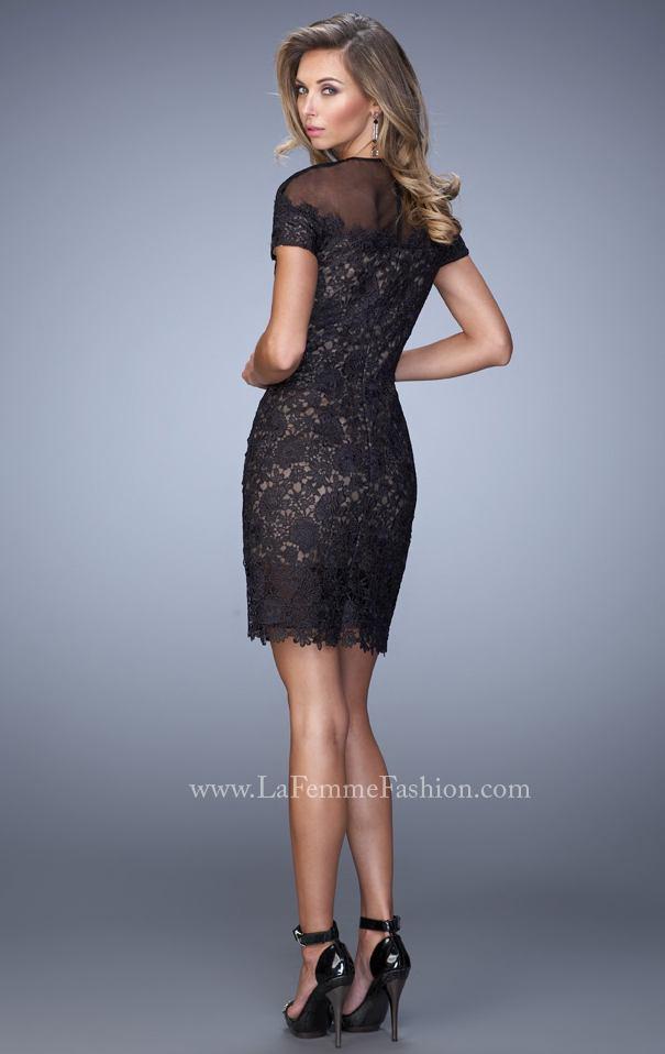 Mini Negro Vestido En Elegante De Cóctel Diseñador Longitud Famoso 54AjqS3RcL