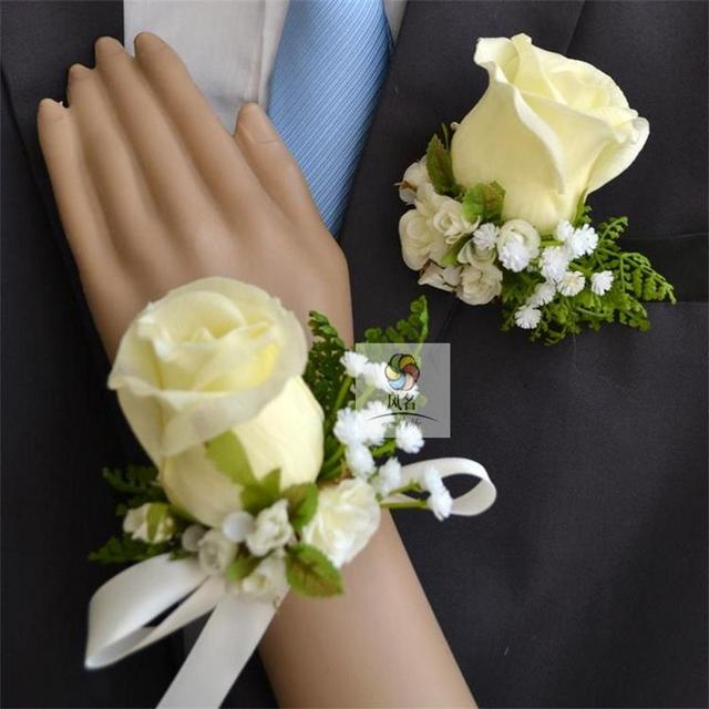 Best man wedding boutonniere groom godfather brooch corsage best man wedding boutonniere groom godfather brooch corsage accessories supplies bride bridesmaid hand wrist flower for junglespirit
