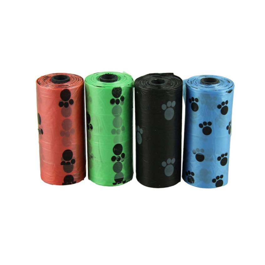 1roll Degradable Pet Dog Waste Poop Bag With Printing Doggy Bag May2 Extraordinary