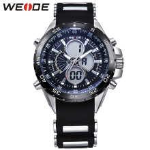 WEIDE Brand Military Sports Watch for Men Black Waterproof Digital LCD Quartz-Watch Silicone Strap Wristwatches with Gift Box  все цены