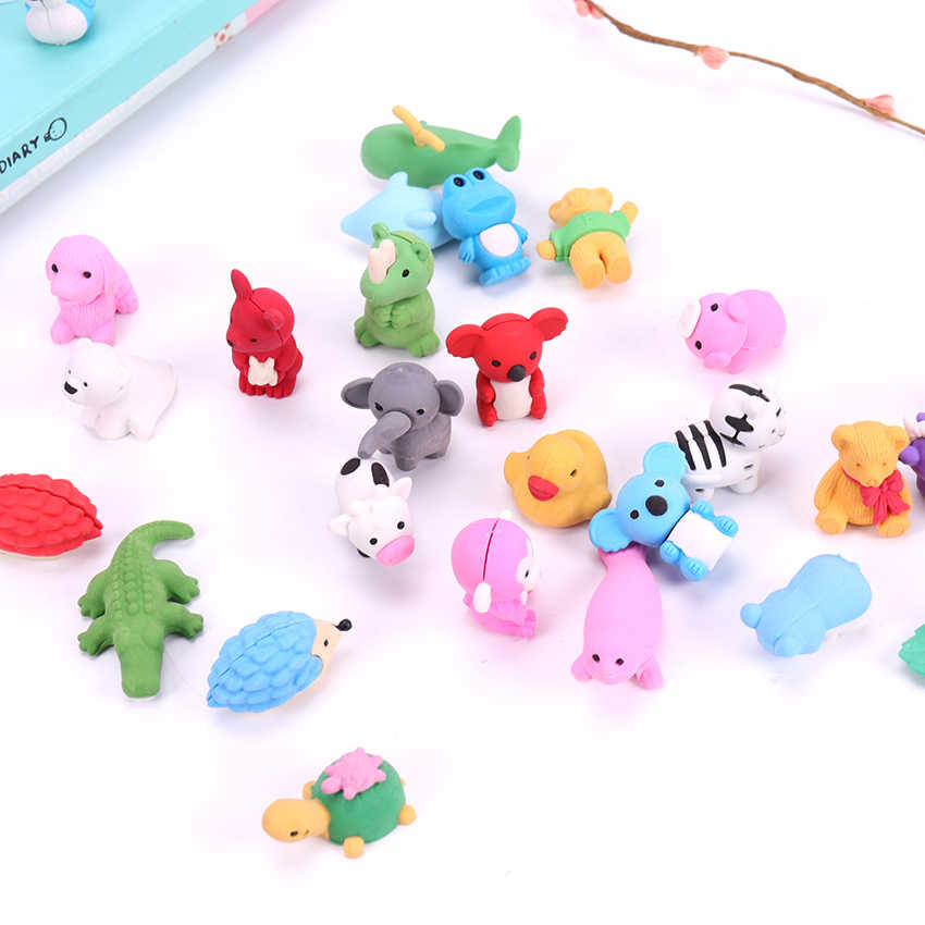 Cartoon animal mini cute eraser For kid rubber stationery L0C0 For V8U2