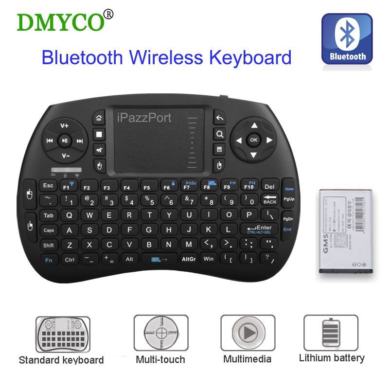 Bluetooth Mini English Keyboard Wireless QWERTY 92 keys keyboard mouse gaming controller For Tablet/PC/Android TV Box/Google TV ...