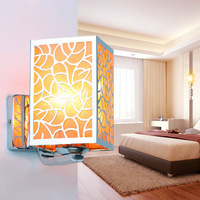 The Supply Of Modern High End Single Aisle Wall Iron Head Creative Engineering Hotel Headboard Lamp