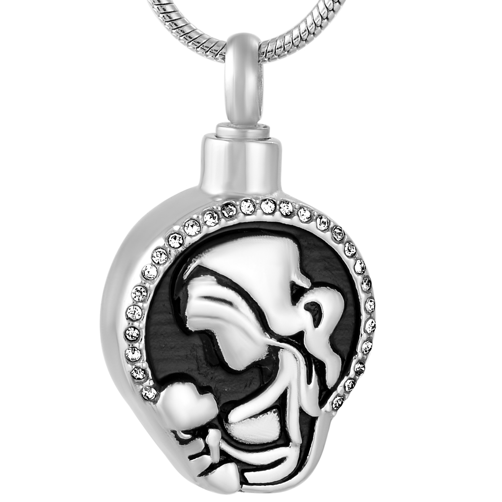 ijd9773 love mother and baby cremation pendant hold ashes. Black Bedroom Furniture Sets. Home Design Ideas