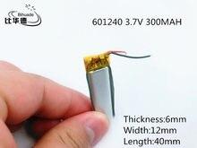 Bateria De Polímero de 300 mah li-po 3.7 V 601240 casa inteligente MP3 alto-falantes Li-ion bateria para dvr, GPS, mp3, mp4, telefone celular, falar