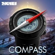 Brújula SKMEI hombres Relojes 5ATM Impermeable Digital Al Aire Libre Reloj Deportivo Hombres Luz Cuenta Regresiva Relojes Relogio masculino
