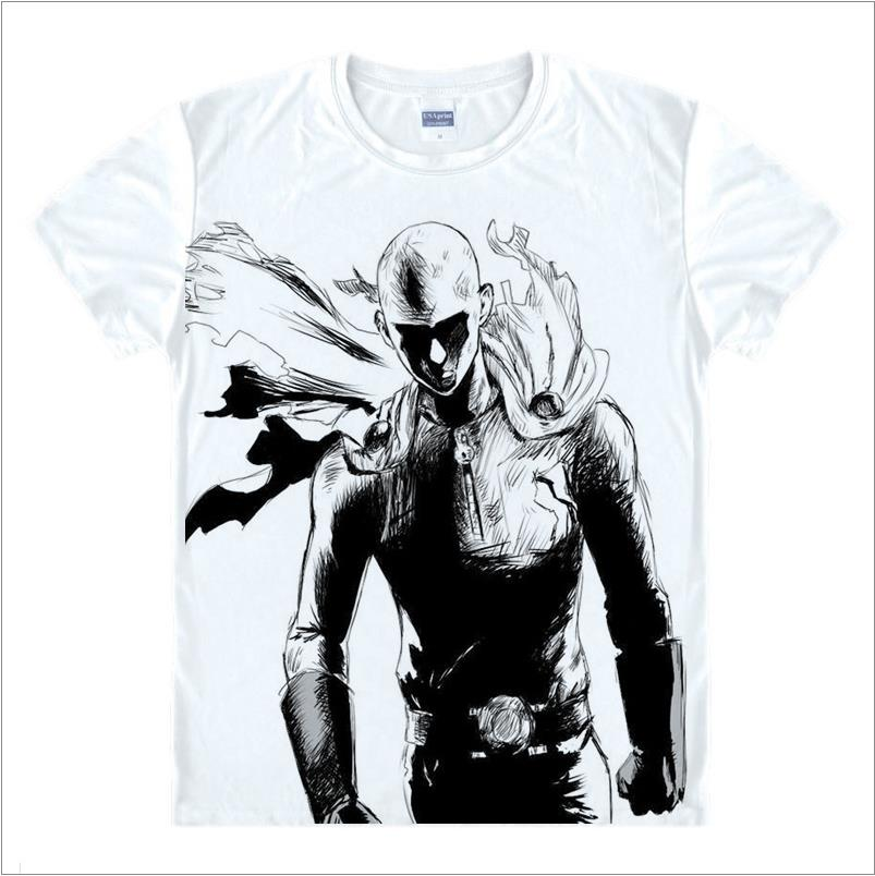 New Fashion ONE PUNCH MAN Shirt Hoodies Anime ONE-PUNCH Man T Shirt 3D Cartoon men T-shirt Genos Saitama Cosplay summer tshirts