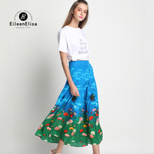 Women Runway Skirt Sets Long Silk Skirt And T Shirt 2 Piece Set Luxury Summer Fashion Suit Woman