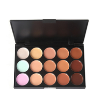 Professional 15 color Natural matte concealer Palette Face Contouring bronzer highlighter Makeup Foundation Contour cream YE1-5