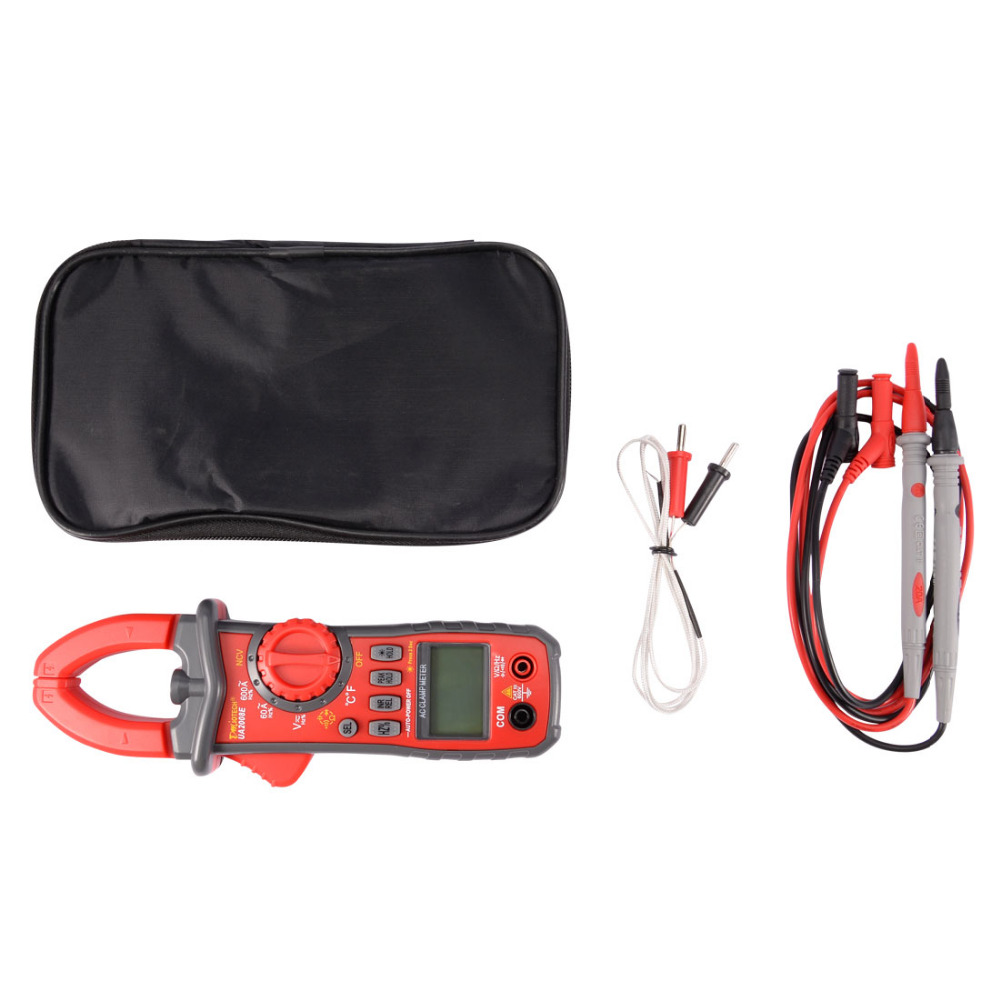 AC DC LCD Multimeter Voltage Current Ohm Auto Range Digital Clamp Meter for Testing Temperature Frequency Diode and Continuity цена