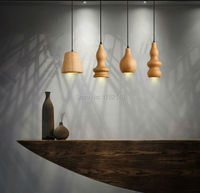 2016 New wooden pendant lights. Nordic wood wooden gourd cucurbit pendant lamp. Droplight hanging lamp Dining Room Decor