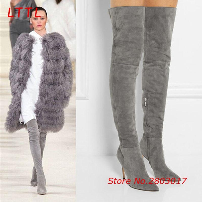 Popular Grey Thigh High Boots-Buy Cheap Grey Thigh High Boots lots ...