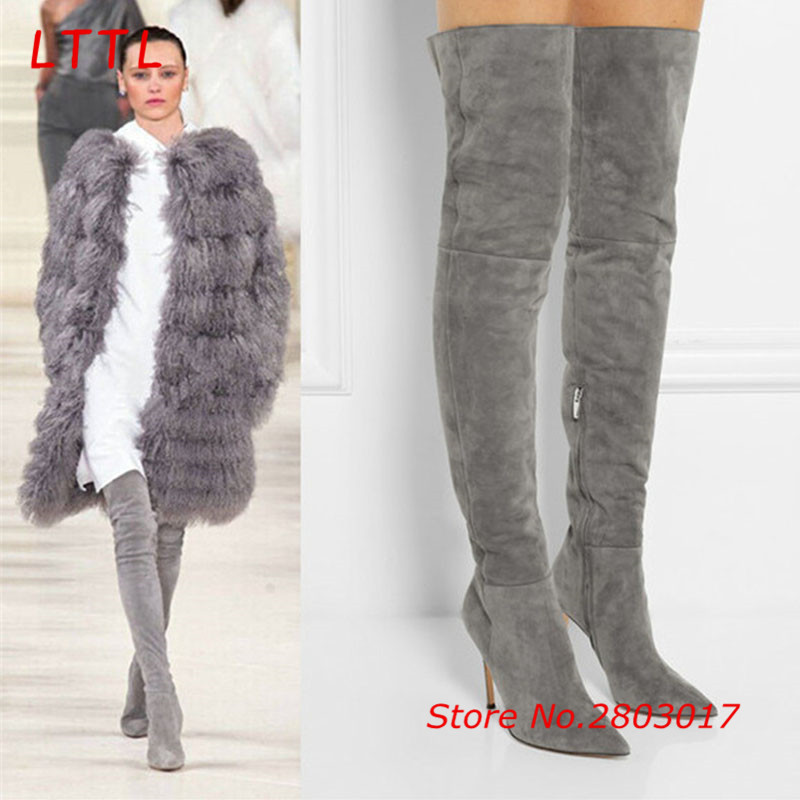 Popular Over Knee Grey Boots-Buy Cheap Over Knee Grey Boots lots ...