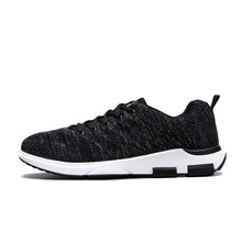 Brand Quality Human Mens Casual Shoes For Men Air Cushion Breathable Fly Line Knitted Black Grey Fashion Man Boots