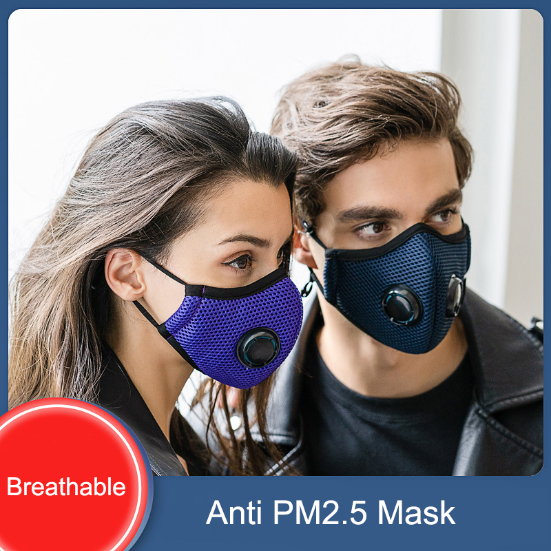 Dust Mask 2 Activated Carbon Filters N95 Mask Respiratory Protection Anti Pollution Exhaust Gas Pollen Allergy PM2.5 Woodworking
