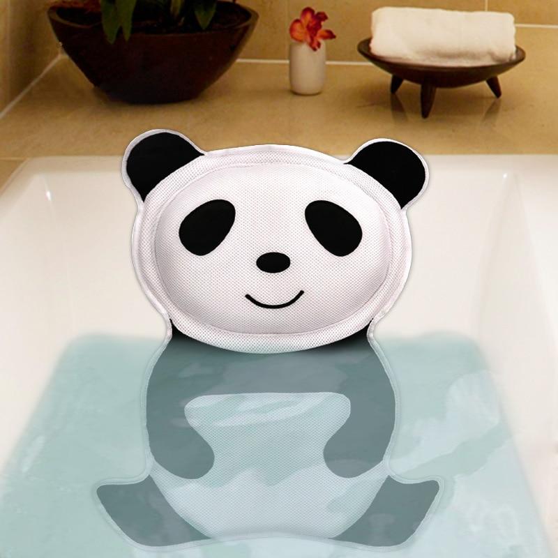 Bath Pillow Soft Spa Headrest Tub Backrest Suction Cup Neck Cushion Accessories