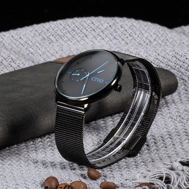 CIVO модные повседневные мужские водонепроницаемые часы аналоговые спортивные наручные часы Мужские кварцевые часы для мужчин подарок часы Relogio Masculino