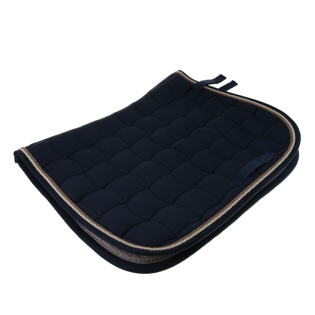Perfeclan Cotton Quilted Horse Saddle Cloth Equestrian Saddle Pads 69x50cm