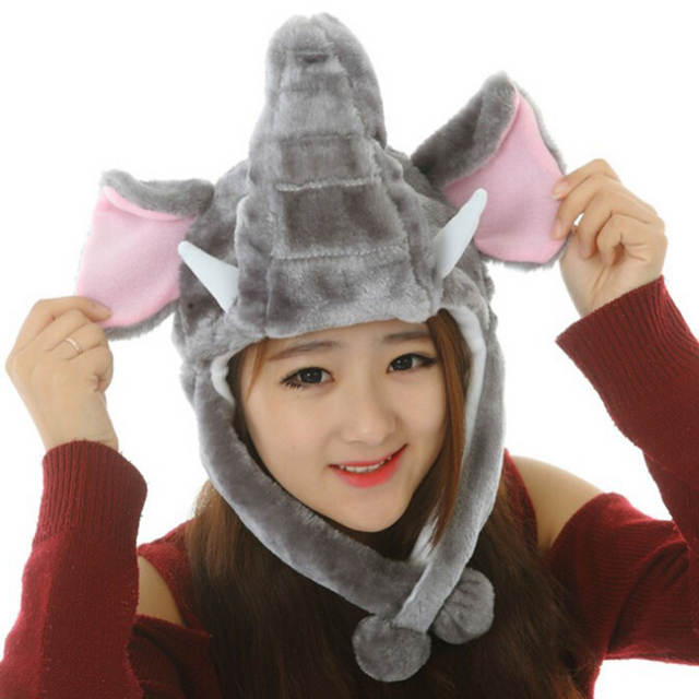 12535d163 US $2.99 19% OFF|Hat Cartoon Adults Soft Performance Props Cute Funny Gifts  Costume Cap Kids Plush Animal-in Women's Skullies & Beanies from Apparel ...