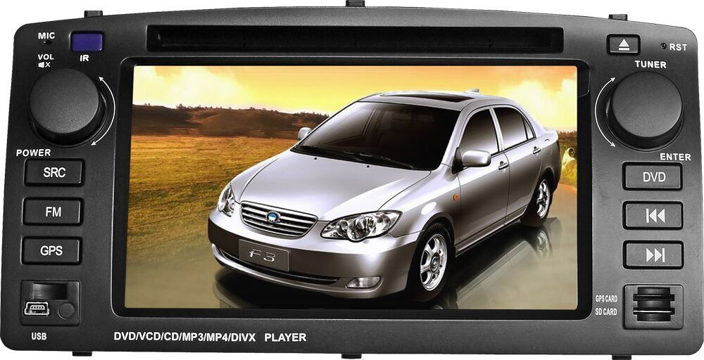 Free shipping 2 din car dvd gps player for BYD F3 with bluetooth radio rds ipod steering wheel control Analog TV subwoofer out