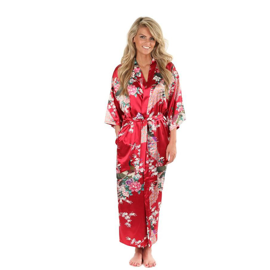 9a2852384c Detail Feedback Questions about Hot Sale Wine red Female Silk Rayon Robes  Gown Kimono Yukata Chinese Women Sexy Lingerie Sleepwear Plus Size S 3XL  SD124 02 ...