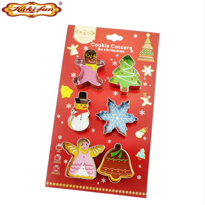 Kuki fun Kitchen Baking Mold Fondant Party Wedding Decor Christmas Tree Petal Cookie Cake Cutters