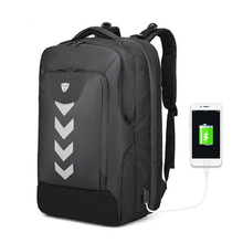 OZUKO Men Backpack Waterproof USB Charging Computer Brand La