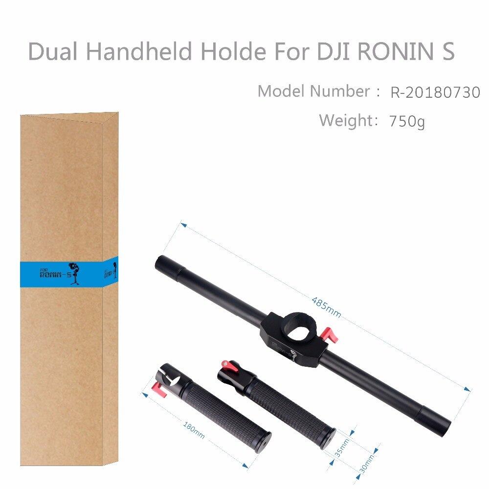 Для DJI Ронин S двойной ручной держатель Расширенный ручка Gimbal для DJI RONINS аксессуары Gimbal стабилизатор Гора