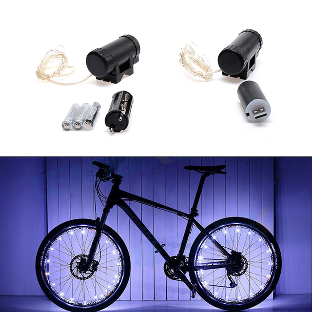 4b45e22bd 20 Luci LED Bicicletta Luce Mountain Bike Ciclismo Ruota A Raggi Lampada  Accessori Bici All