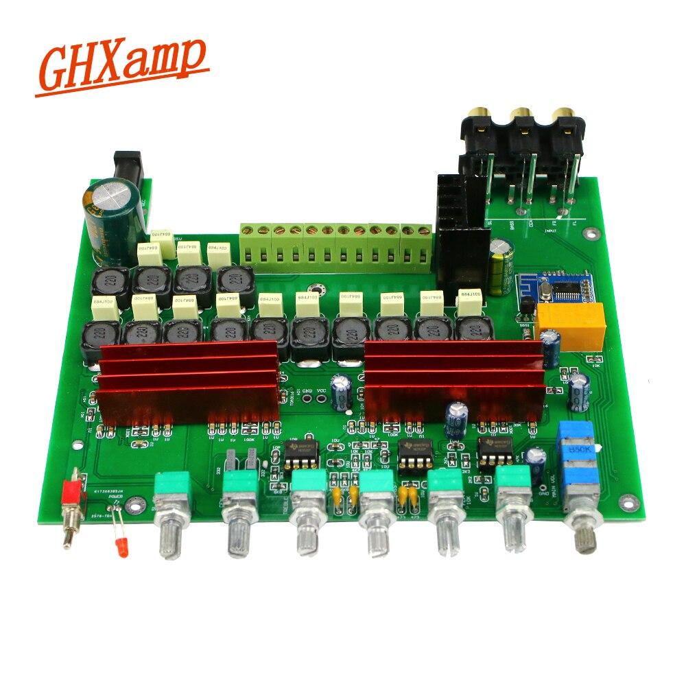 GHXAMP TPA3116 5.1 carte Audio amplificateur Bluetooth 4.2 avec réglage du Volume des graves aigus préampli carte finie DC12-24V 1 pc