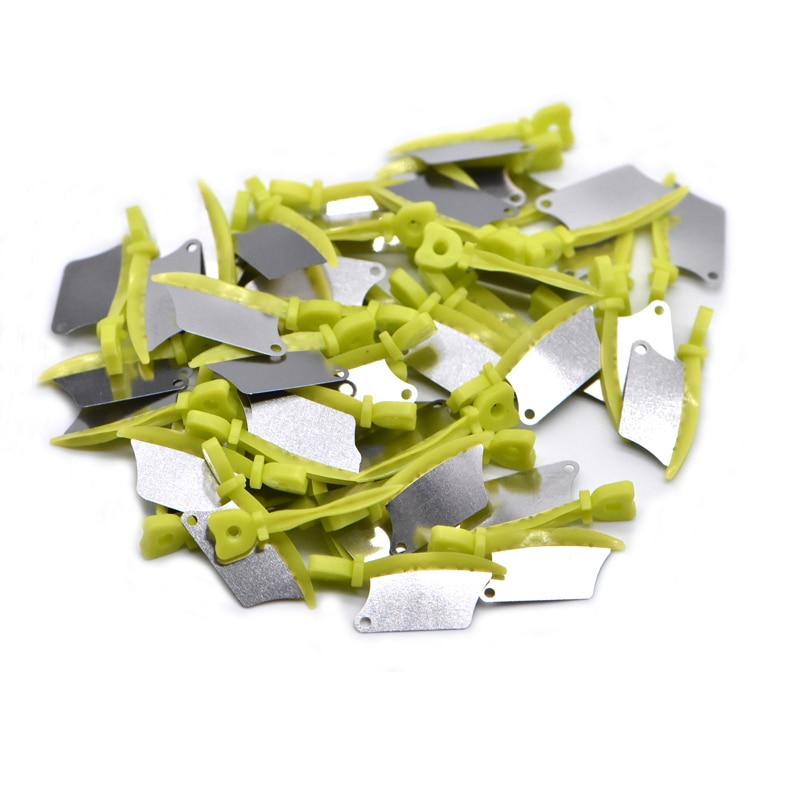 Dentes primários dentários faca de cunha de plástico interproximal com matriz de aço dental de proteção