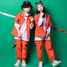 Crianças hip hop roupas meninas meninos moletom jogger calças jazz trajes de dança conjunto roupas de dança de salão roupas meninos casacos