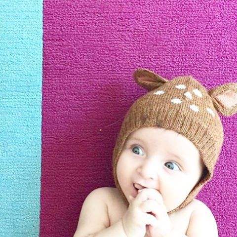 Instagram 0-3Y Baby Lovely Deer Cap Infant Soft Cotton Autumn Warm Hat Kid  OEUF NYC Knitted Headgear For Boys Girls Best Gift e4b8defd3fe