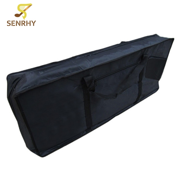 Black 61 Key Piano Keyboard Case Bag Electronic Music Carry Oxford Cloth Tote