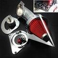 Peças da motocicleta Cone de Spike Air Cleaner filtro para Kawasaki Vulcan 800 Clássicos 1995-2012 CHROME