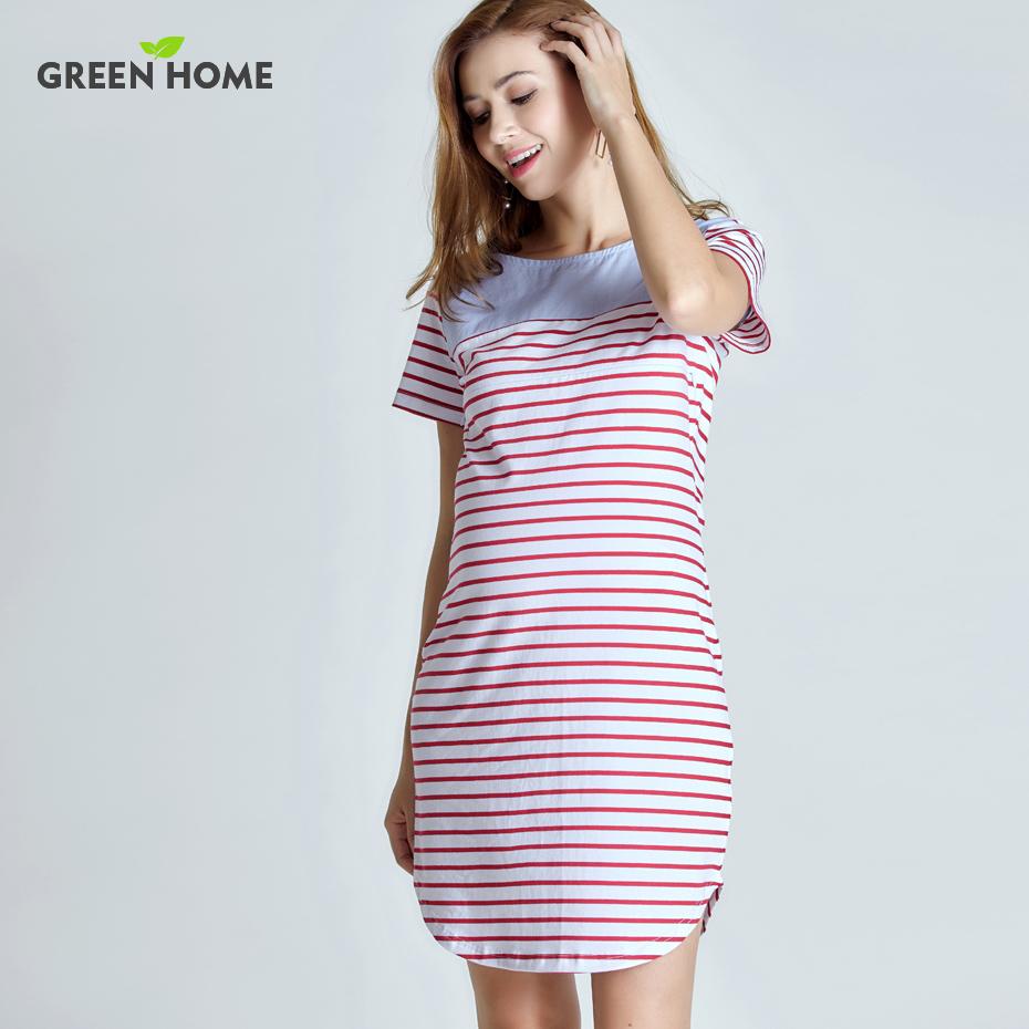 дом материнство зеленый короткий рукав летнее платье в полоску для беременных женщин беременность платье для повседневное стилей