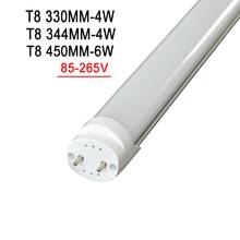 LED Tube Lights 1 Foot 0.33m 330mm 4W integrated Tube 1.5ft 0.45m 450mm 6W T8 LED AC85V-265V LED Lamp Light 2835SMD Lighting цена 2017