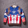2017 Boys the Avengers Kids Jacket Children's Coat Super Hero Captain America outerwear & coats Boys Children Clothing
