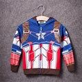 2017 chicos de the avengers niños chaqueta de la capa de los niños super hero captain america prendas de abrigo y abrigos niños niños clothing