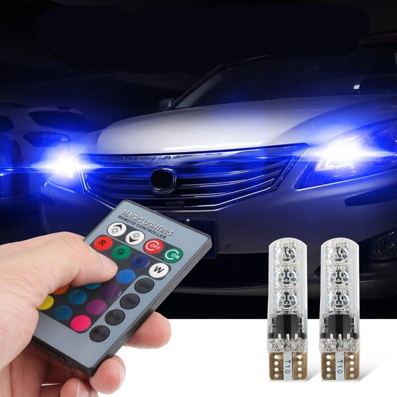 T10 W5W Canbus coche LED RGB luces de estacionamiento para Mitsubishi motores asx lancer 10 9 x outlander xl pajero sport 4 l200 carisma Envío Gratis nuevo MR583930 para Mitsubishi LANCER Outlander MR-583930