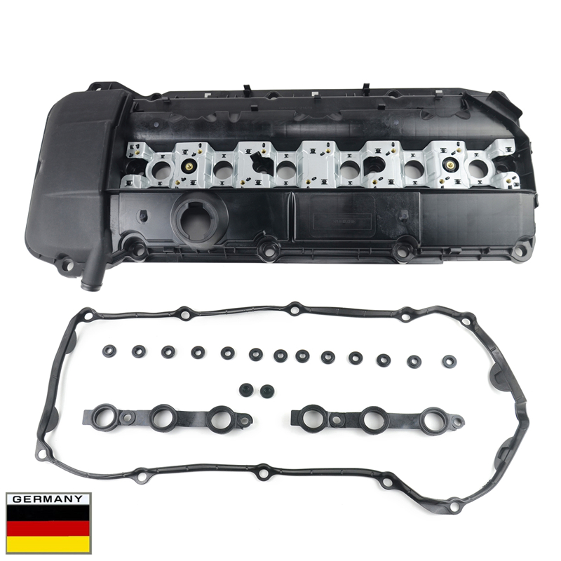 AP03 New 11121432928, 11121748630, 11 12 1 432 928, 11 12 1 748 630 For BMW ENGINE M54/M52 Cylinder Head Valve Cover + Gasket image