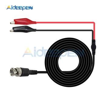 1 juego de cables de prueba de combinación multifunción BNC macho a doble pinza de cocodrilo osciloscopio sonda de prueba Cable de plomo 1M