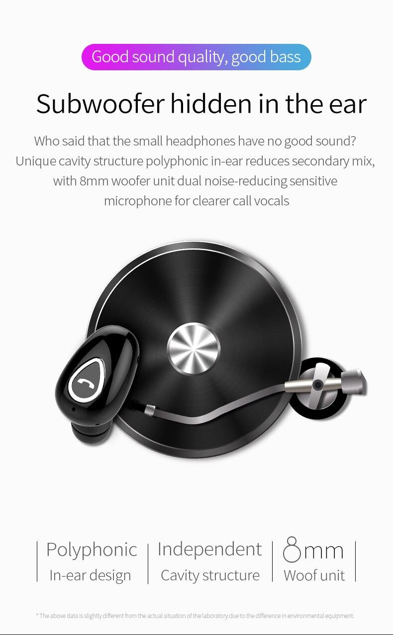 Mini Bluetooth Earphone Headset Wireless Sport IPX5 Waterproof Earbud Hands-free Fone De Ouvido Sweatproof For Car Driving Phone