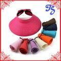 Женская летняя шляпа солнца складной соломенная шляпа женская пляж козырек крышки sunbonnet