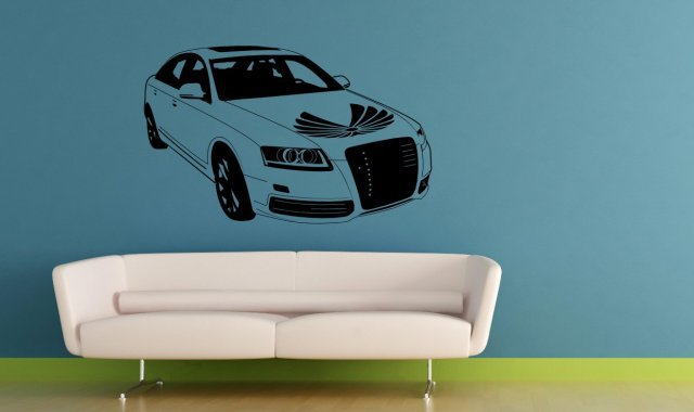 Sport Car Audi   Kids And Teenager Room Wall Sticker. Many Colours. New.